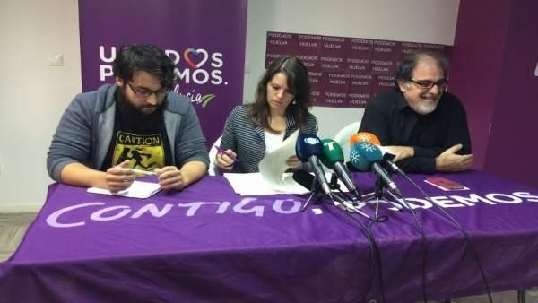 Rocío Van der Heyde junto a Marco Fidelio y Jesús Romero