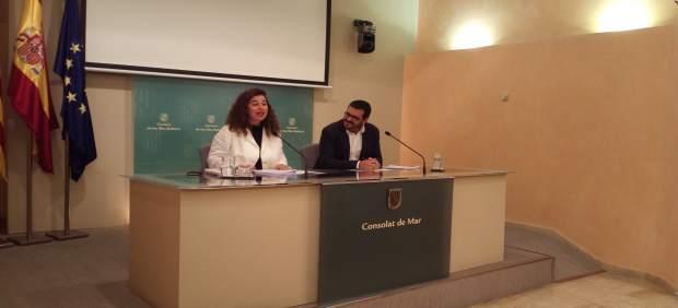 Costa y Vidal en la rueda de prensa tras el Consell de Govern