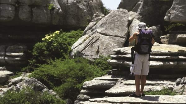 Viajero turista mochila