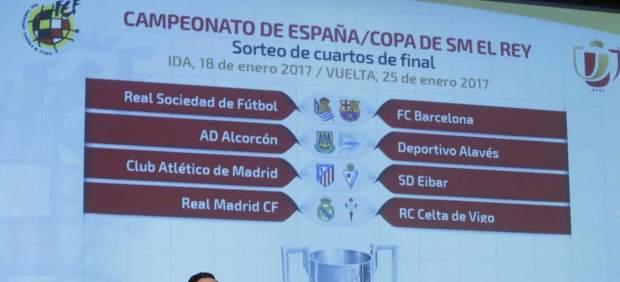 Copa Del Rey Cuartos De Final   Sorteo De Cuartos Copa Del Rey Real Barcelona Alcorcon Alaves