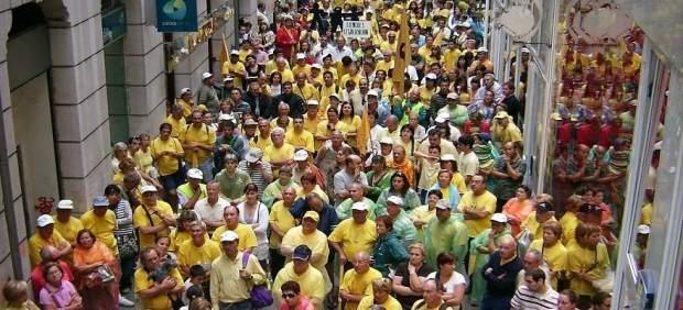 Marcha de los afectados por derribos