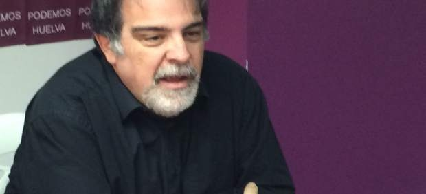 Jesús Romero (Podemos) en rueda de prensa