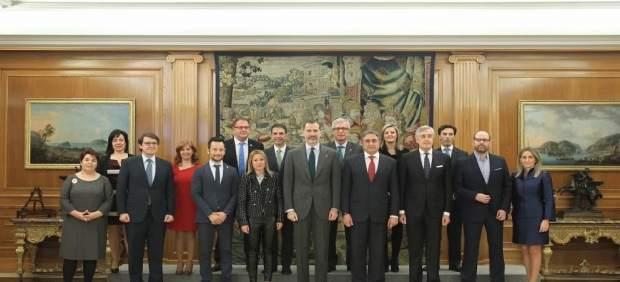 El Rey recibe a los alcaldes de las Ciudades Patirmonio de la Humanidad