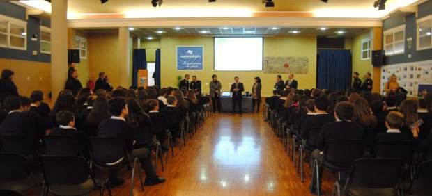 Imagen de las charlas incluidas en el Plan Director en un colegio de Alcantaril