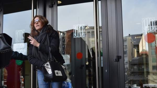 La madre de Nadia, Margarita Garau, a la salida del juzgado