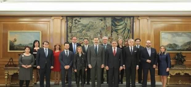 El Rey con los alcaldes de las ciudades patrimonio