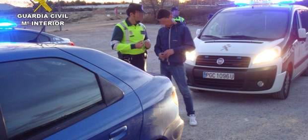 Imagen del conductor detenido