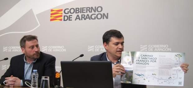 Soro y Palacín han presentado folleto y  web del Camino de Santiago en Aragón