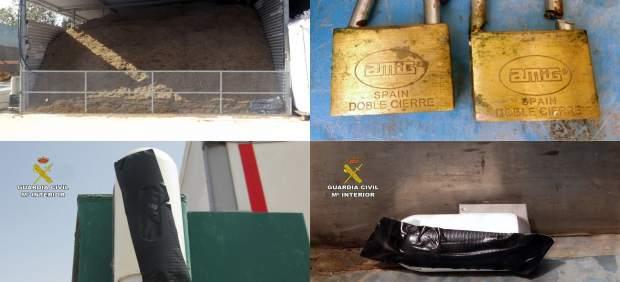 Imagen de los daños provocados por el individuo en sus propias instalaciones