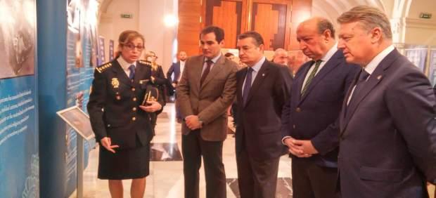 José Antonio Nieto, Antonio Sanz y German López en la exposición