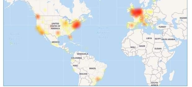 Facebook, caído en varios países