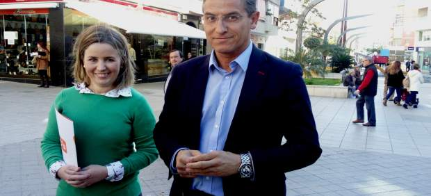 El diputado nacional de C's Luis Salvador en Motril (Granada)