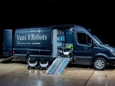 Furgoneta de reparto robotizada