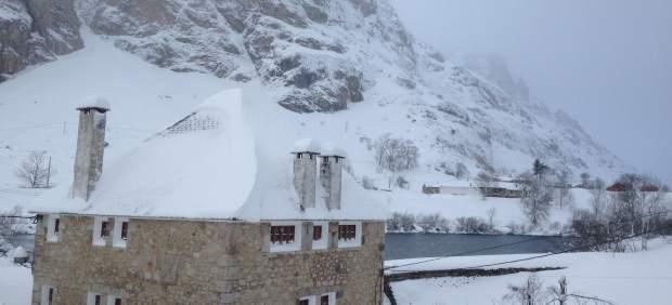 Nieve en Asturias, Somiedo, nevada, temporal