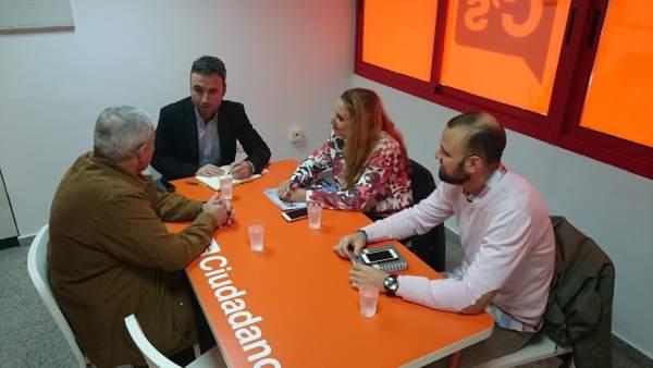Guillermo Díaz Ciudadanos málaga diputado con SUP policías