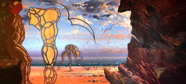 Una de las obras del pintor empordanés Guillem Roca