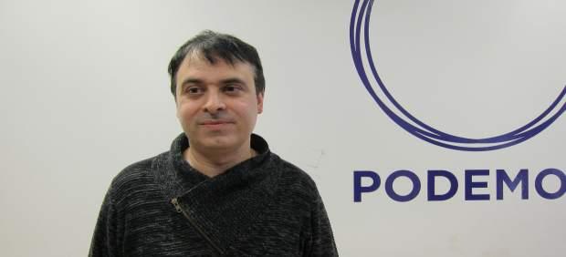 El secretario de Organización de Podemos Aragón, Román Sierra