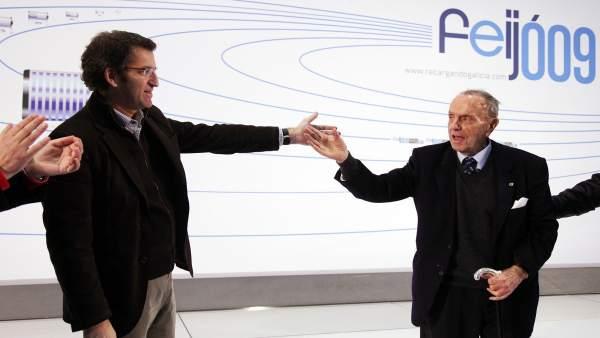 Alberto Núñez Feijóo y Manuel Fraga