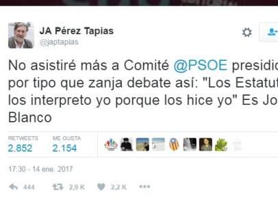 Tuit de Pérez Tapias