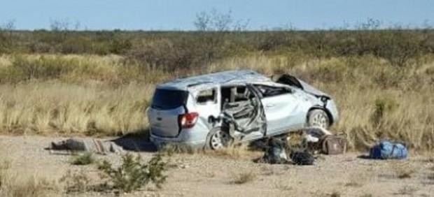 El coche en el que viajaban las víctimas del Club Italiano