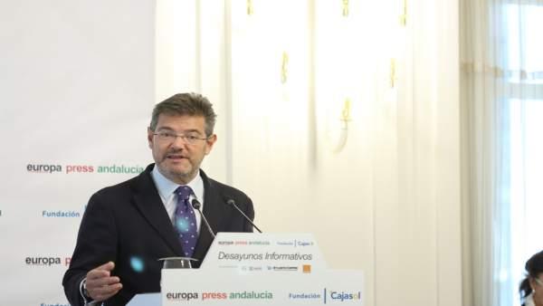 Ministro de Justicia, Rafael Catalá, en los Desayunos de Europa Press Andalucía