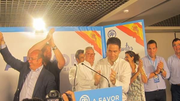 PP gana elecciones, Teodoro García, Sánchez, Ascensión Carreño, Valcárcel