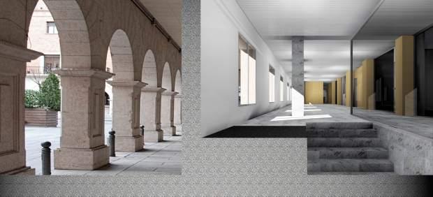 Recreación de trabajos que se desarrollarán en el Palacio de Justicia de Teruel