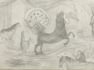 Leonora Carrington, Sin título (Caballos), 1947
