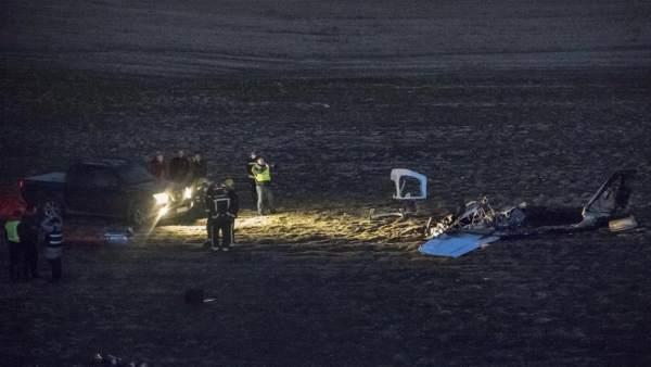Accidente de avioneta en Casarrubios del Monte (Toledo)