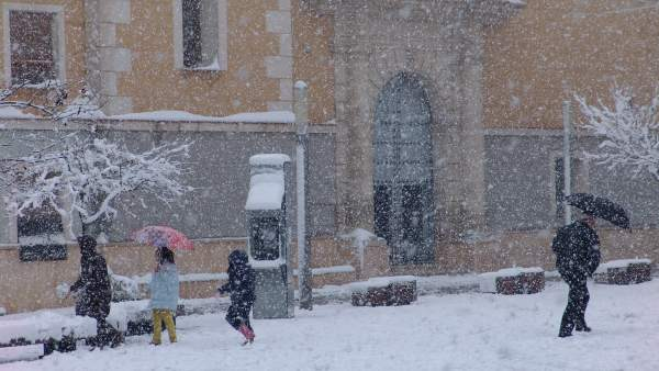 Nieve En Primavera En El Municipio De Bullas