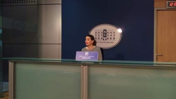 La portavoz parlamentaria del PP, Marga Prohens