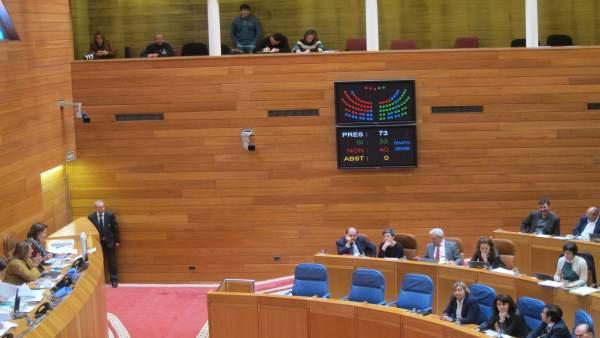 Pleno presupuestos en el Parlamento de Galicia.