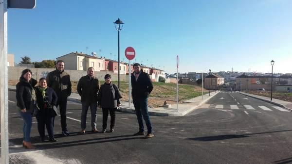 Visita de la Diputación a las obras de Albaida del Aljarafe (Sevilla)