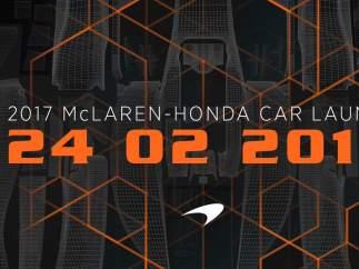 McLaren presentará el nuevo coche de Alonso el 24 de febrero