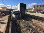 Metro arrolla furgoneta en Paterna