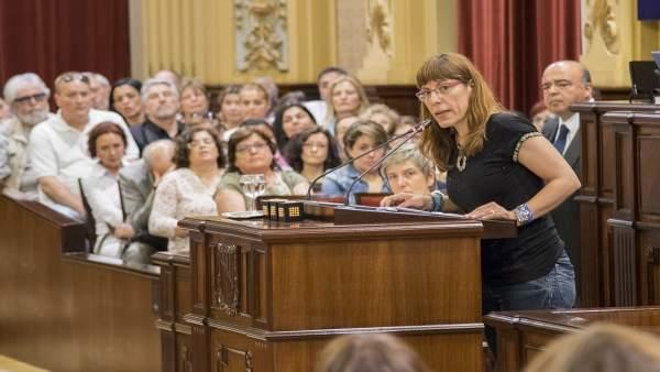 La portavoz parlamentaria de Podemos, Laura Camargo