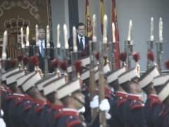 Mariano Rajoy y Pío García Escudero en el Desfile del 12-O.