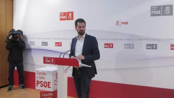 Tudanca en la sede autonómica del PSOE