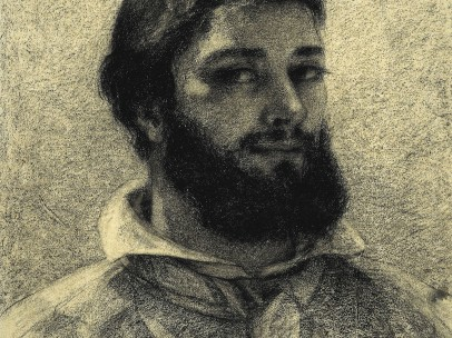 Gustave Courbet, Self Portrait , 1852