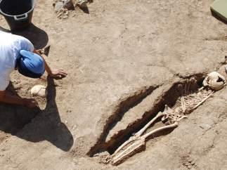 Enterramiento de esclavos