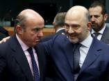 Luis de Guindos y Pierre Moscovici