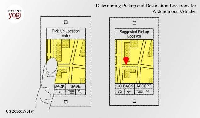 Imagen de la patente de Google para el coche autónomo
