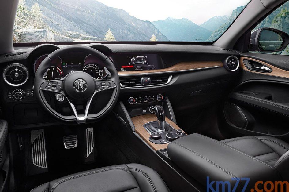 Interior del Alfa Romeo Stelvio