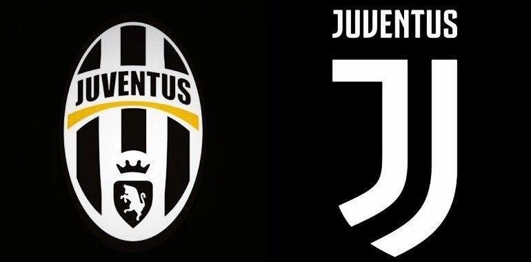 Juventus de Turín. El club italiano ha cambiado el escudo para la próxima temporada.