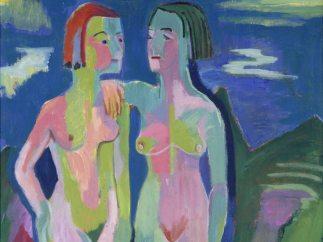 'Zwei weibliche Akte in Landschaft', 1921