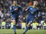Iago Aspas y Daniel Wass celebran un gol