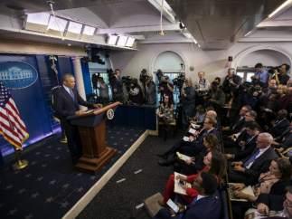 Obama da su última rueda de prensa