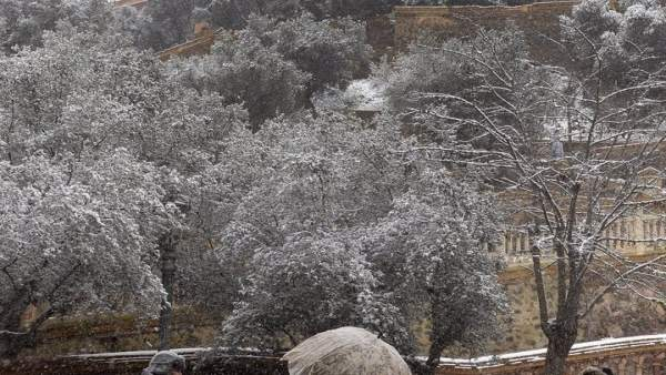 Nieve, nevada, frío, santuario de la Fuensanta