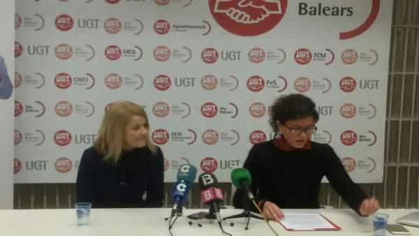 Mari Carmen Barrera y Xisca Garí, de UGT