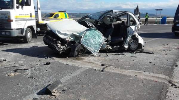Accidente con dos fallecidos en Arcos de la Frontera (Cádiz)